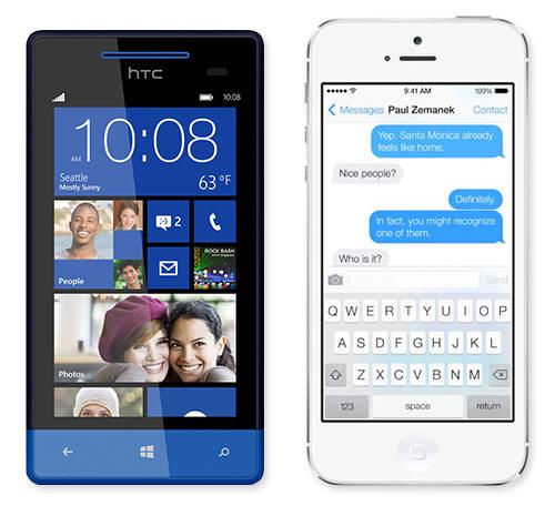 Flat Design - inne bland mobiltillverkarna.